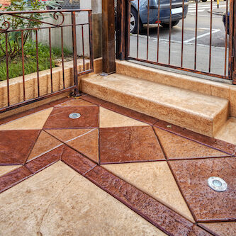 Decorative Stained Concrete Design